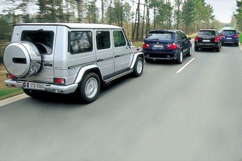 Vier Power-SUV im Vergleich