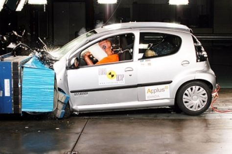 Crashtest Citroën C1/Toyota Aygo/Peugeot 107