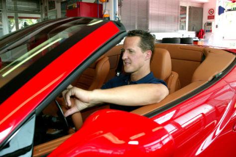 Michael Schumacher testet Ferrari California