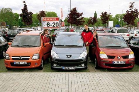 Peugeot 1007 – Opel Agila – Renault Modus