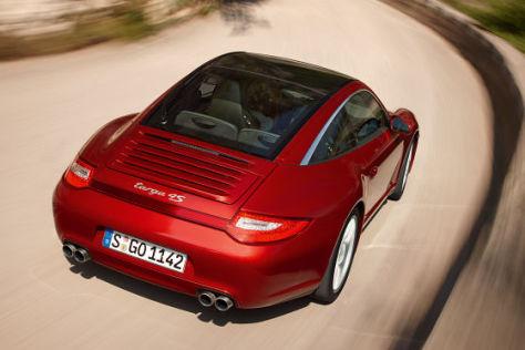 Porsche Targa mit 1,54 Quadratmeter Glasdach.