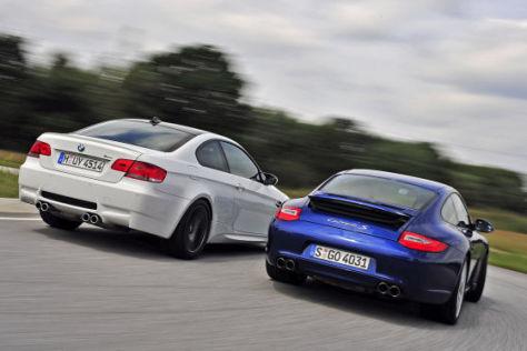 BMW M3 Coupé DKG Porsche 911 Carrera S