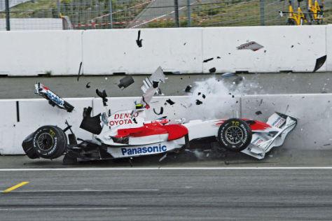 Formel 1, Hockenheim 2008, Glock-Unfall