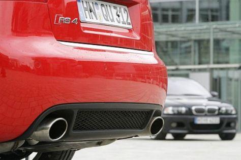 Audi RS4 gegen BMW M3