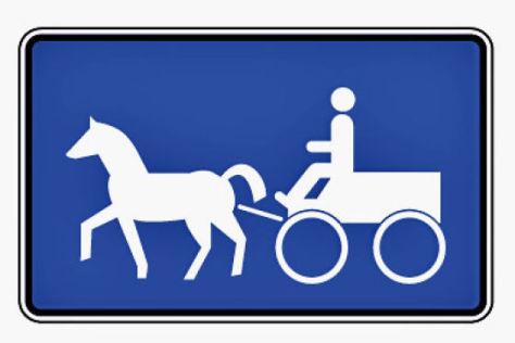 Verkehrsschild Straße für Gespannfuhrwerke