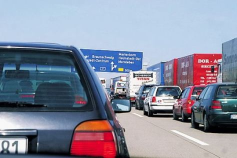 Autobahn Stau Verkehr