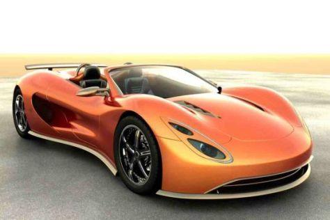 Fährt mit Benzin-Wasserstoff-Gemisch: US-Sportwagen Scorpion aus Texas.