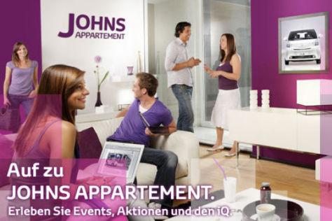 Johns Apartment: So wirbt Toyota für den Stadtflitzer iQ.