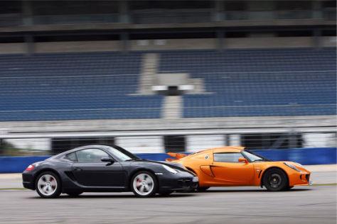 Porsche Cayman S Lotus Exige S Performance