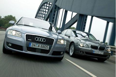 Audi A8 gegen BMW 7er