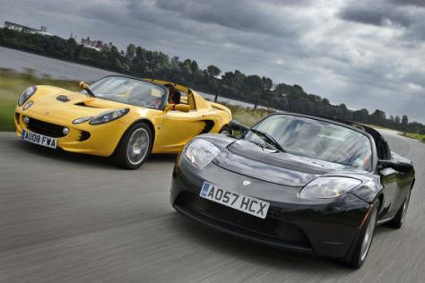 Lotus Elise SC Tesla Roadster