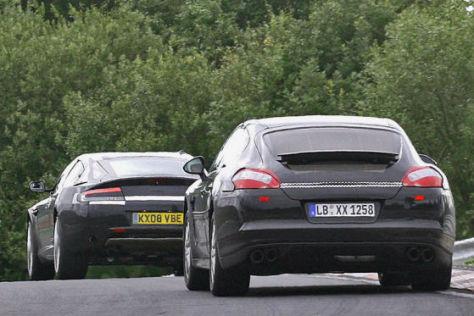 Erlkönige Aston Martin Rapide Porsche Panamera