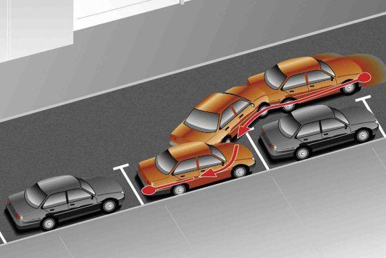 Kleine Blessuren vermeiden unsichere Fahrer beim Einparken mit dem Einparkassistent.