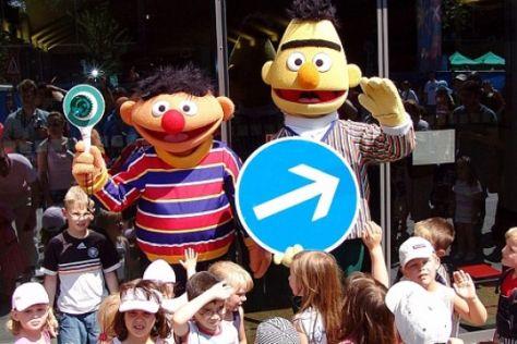 Sicherheitstraining mit der Sesamstraße