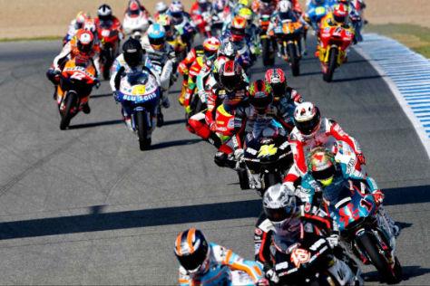 Motorrad WM 2008, Misano/Italien, 125er Start