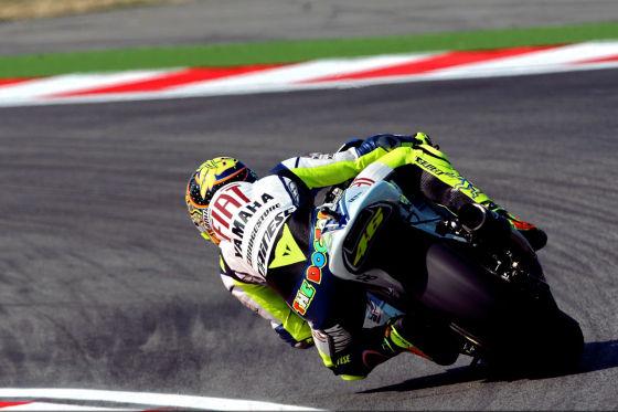 Motorrad WM 2008, Misano/Italien, MotoGP-Klasse, Valentino Rossi, Fiat Yamaha