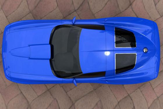 Unter der Haube gibt es wahlweise Power aus C6, Z06 oder ZR1. Hinten wurde ein Split-Window nach Vorbild der 63er C2 verbaut.