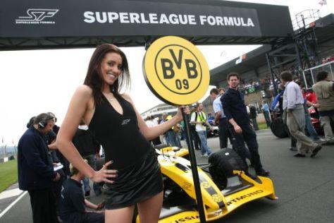 Gridgirl von Nelson Philippe, Borussia Dortmund Superleague Formula, Donington Park