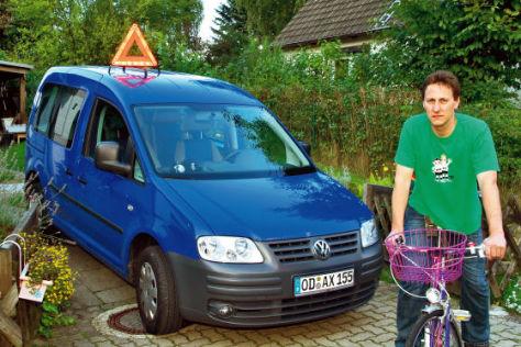 AUTO BILD-Leser Ralf Schümann und sein VW Caddy