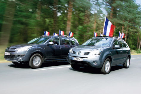 Vergleich Citroën C-Crosser 2.2 HDi/Renault Koleos 2.0 dCi