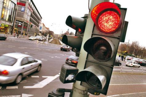 Ampel Rotlicht Straße