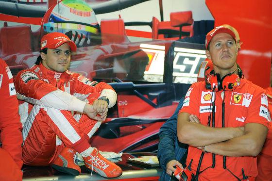 Formel 1, GP von Italien Monza 2008, Felipe Massa und Michael Schumacher, Ferrari