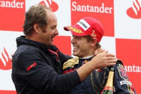 Formel 1, GP von Italien Monza 2008, Sebastian Vettel und Gerhard Berger, Scuderia Toro Rosso