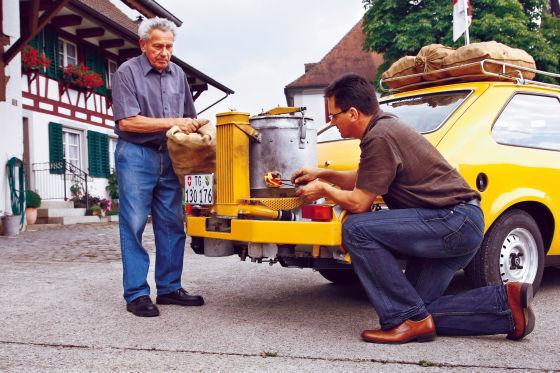 Opel Kadett mit Holzvergaser