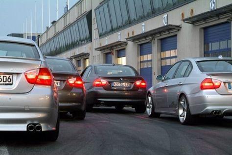 Vier getunte BMW 320d