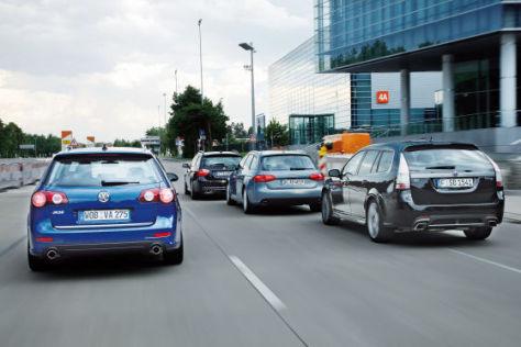 Audi A4 Avant 3.2 quattro Saab 9-3 Turbo X Sportcombi VW Passat Variant R36 BMW 335i Touring