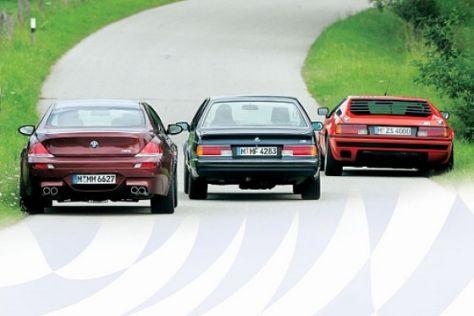 BMW M1 gegen M 635 CSi und M6