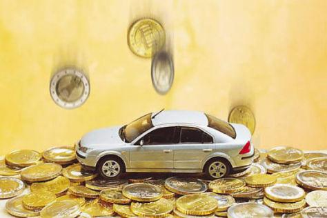 Geld Euro Münzen Auto