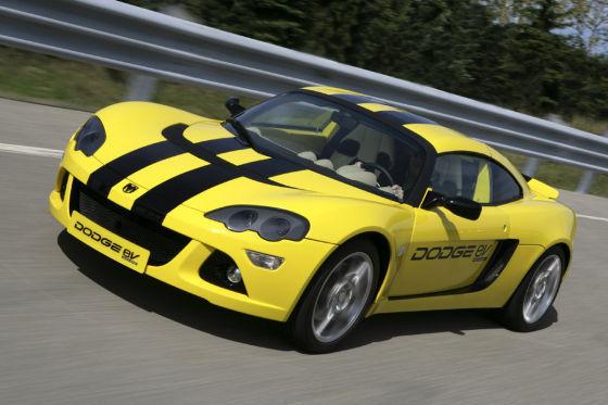 Den Dodge EV soll ein Elektromotor bis auf Tempo 200 bringen.