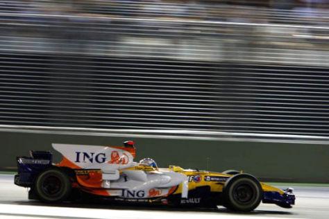 Formel 1, GP von Singapur 2008, Fernando Alonso, Renault