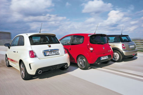 500 Abarth Mini Cooper Renault Twingo RS