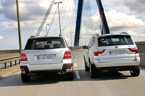 BMW X3 xDrive 30d Mercedes-Benz GLK 320 CDI