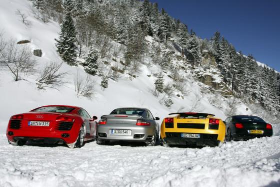 Audi R8 Porsche 911 Turbo Bentley Continental GT Speed Lamborghini Gallardo Superleggera