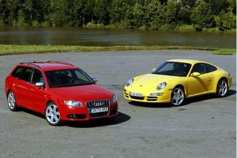 Audi S4 Avant vs. Porsche 911 Carrera 4S