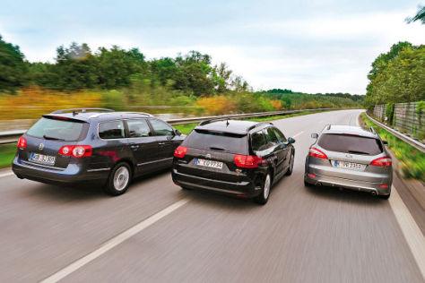 VW Passat Variant Citroën C5 Tourer Ford Mondeo Turnier