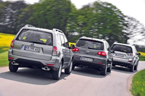 VW Tiguan Mitsubishi Outlander Subaru Forester