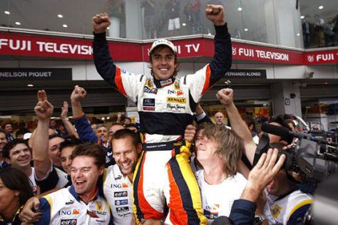 Formel-1-Fahrer Fernando Alonso und Renault-Team