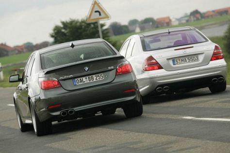 Alpina B5 gegen Mercedes-Benz E 55 AMG