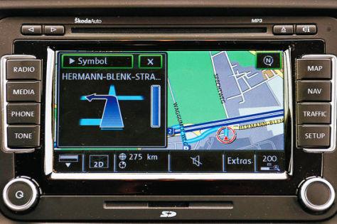 Test Navigationsgeräte ab Werk