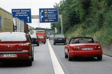 U-Turn auf der Autobahn