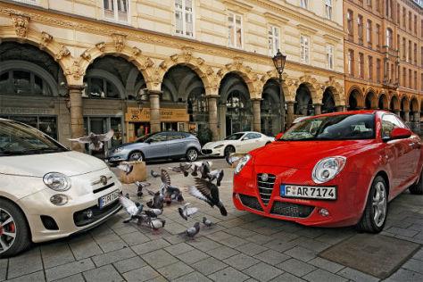 Fiat 500 Abarth, Alfa MiTo, Lancia Delta, Maserati Gran Turismo S
