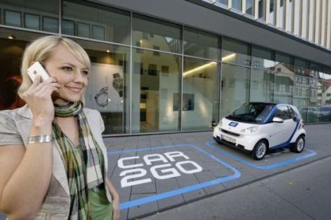 Beim neuen Leihwagen-Konzept car2go werden nur Smart Fortwo verwendet.