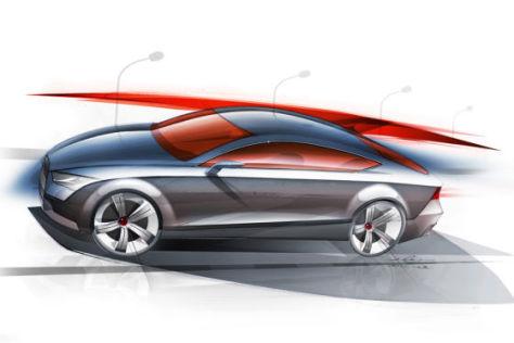 Audi A7 Skizze
