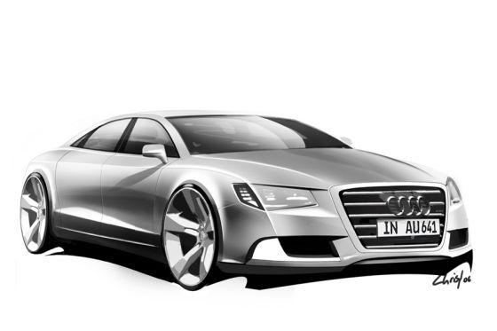 Audi A8 Skizze
