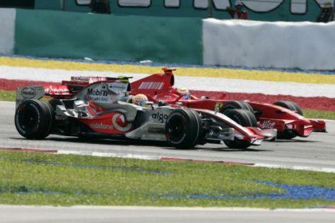 Formel-1-Saison 2008, Massa gegen Hamilton