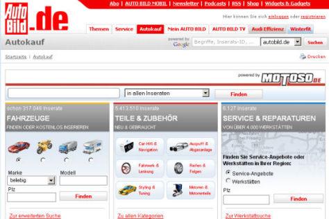 Der autobild.de-Fahrzeugmarkt